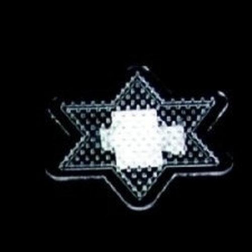 Hama Strijkkralen grondplaat ster transp klein 2700