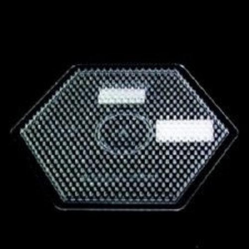 Hama Hama Grondplaat zeshoekig groot transparant 2760