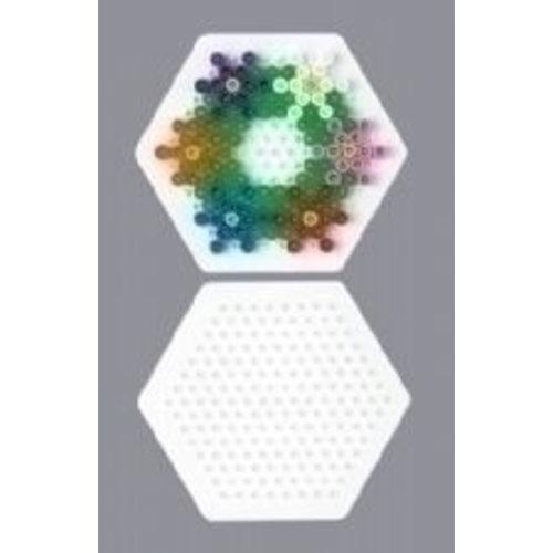 Hama Strijkkralen Grondplaat zeshoekig klein wit 223