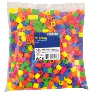 Playbox Playbox XL strijkkralen 1000 stuks neonkleuren