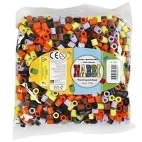 Nabbi Jumbo strijkkralen Herfstkleuren 1000 stuks