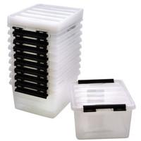 Kunststof opbergbox met deksel 8 liter