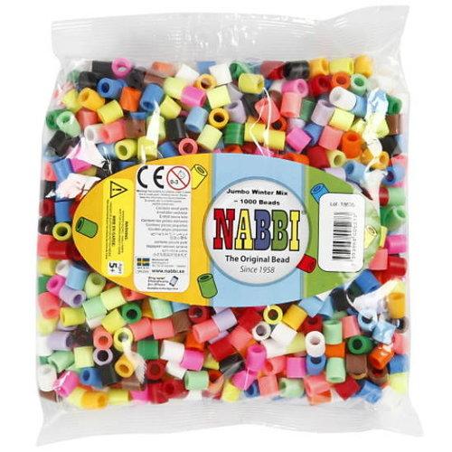 Nabbi Nabbi maxi strijkkralen 15 kleuren mix 1000 stuks