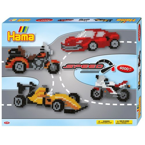 Hama Hama strijkkralen Cadeauset Auto's 4000 delig