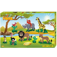 Hama Strijkkralen Set Safari 6000 delig