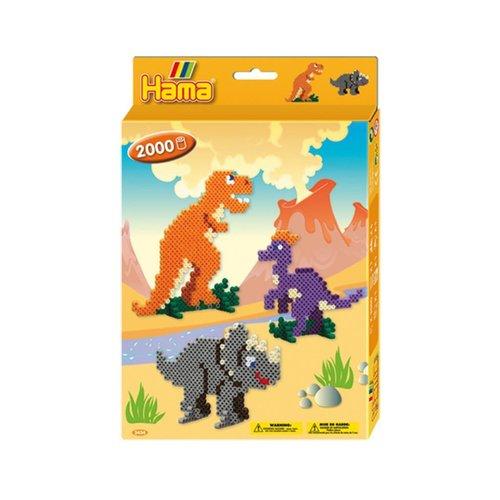 Hama Hama Midi Strijkkralen Dinosaurus Set 2000 delig