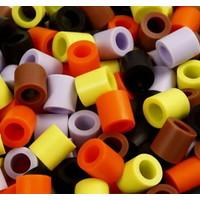 Grote Maxi strijkkralen herfstkleuren in emmer 2450 stuks
