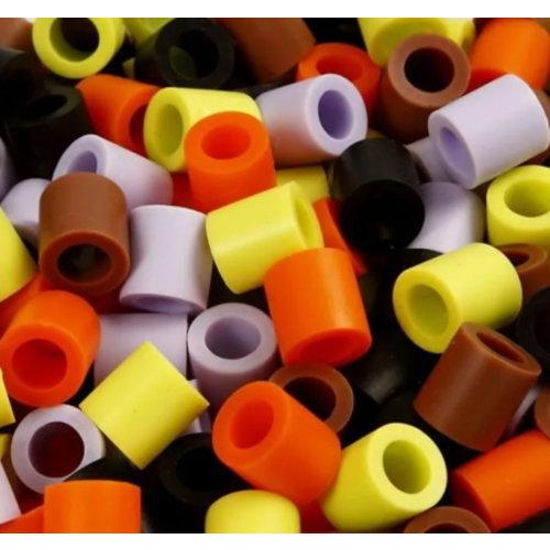 Nabbi Grote Maxi strijkkralen herfstkleuren in emmer 2450 stuks