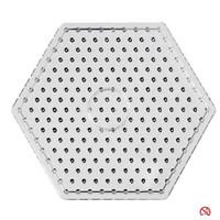 Maxi strijkkralen onderplaat zeskant transparant