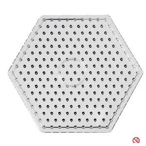 Creotime Maxi strijkkralen onderplaat zeskant transparant