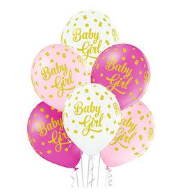 Belbal latex ballon baby girl dots 6 stuks