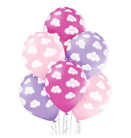 Belbal latex ballon fluffy clouds girl 6 stuks