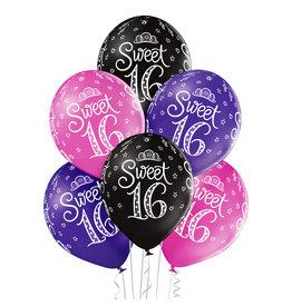 Belbal latex ballon sweet 16 6 stuks