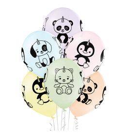 Belbal latex ballon unicorn animals 6 stuks