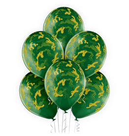 Belbal latex ballon camouflage 6 stuks
