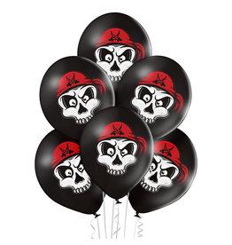 Belbal latex ballon pirate skull 6 stuks