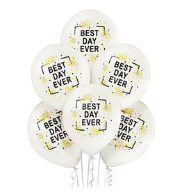 Belbal latex ballon best day ever 6 stuks