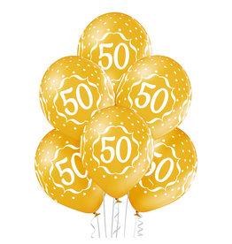 Belbal latex ballon 50th anniversary 6 stuks