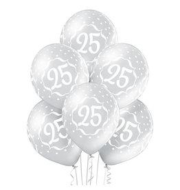 Belbal latex ballon 25th Anniversary 6 stuks