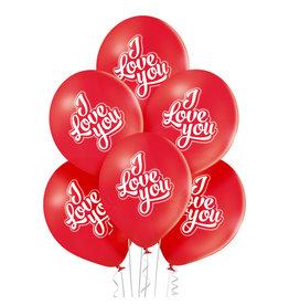 Belbal latex ballon I love you 6 stuks