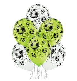 Belbal latex ballon football 6 stuks