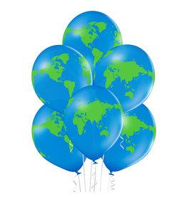 Belbal latex ballon globe 6 stuks
