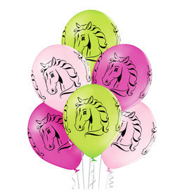 Belbal latex ballon horses 6 stuks