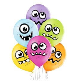 Belbal latex ballon funny monsters 6 stuks
