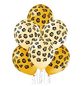Belbal latex ballon leopard spots 6 stuks