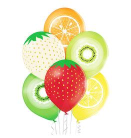 Belbal latex ballon fruits 6 stuks