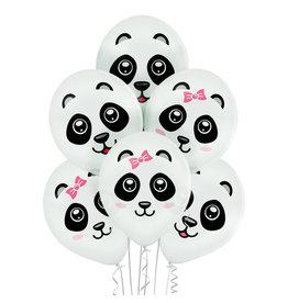 Belbal latex ballon pandas 6 stuks