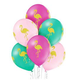 Belbal latex ballon flamingo 6 stuks