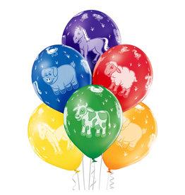 Belbal latex ballon farm animals 6 stuks
