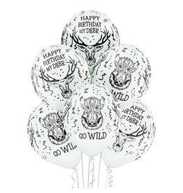 Belbal latex ballon wild birthday 6 stuks