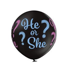 Belbal Gender reveal ballon he or she 60 cm