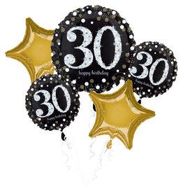 Amscan sparkling folieballonpakket 30 jaar