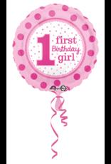 Amscan Folieballon 1st birthday Girl 43cm