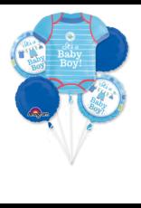 Amscan folieballonpakket it's a baby boy 5-delig