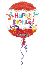 Amscan folieballon sparkle happy birthday 43 cm