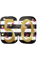 Amscan folieballon supershape pink&gold 50 jaar