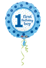 Amscan folieballon 1st birthday boy 43 cm