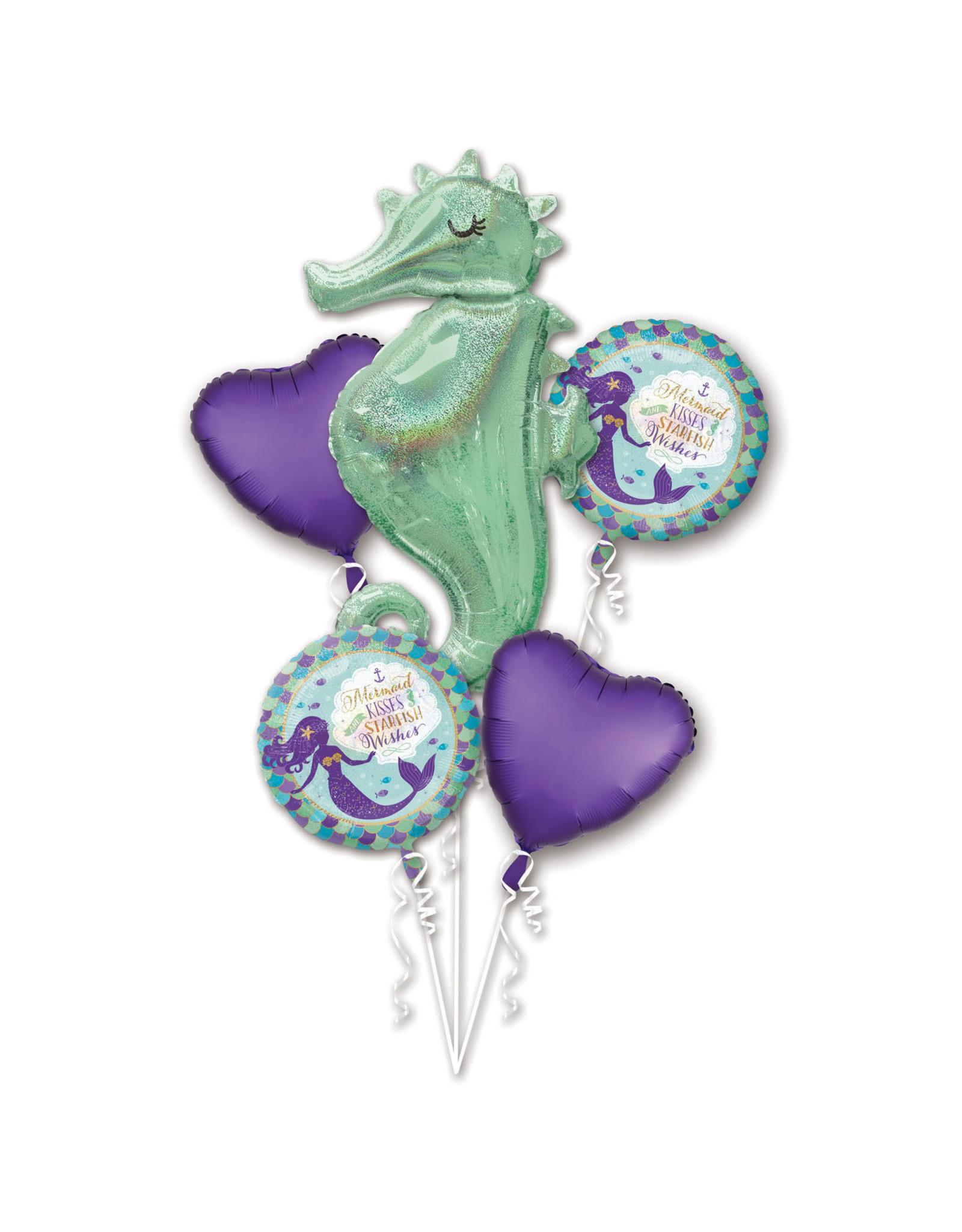 Amscan folieballonpakket mermaid 5-delig