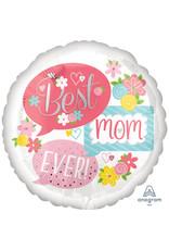 Amscan folieballon supershape best mom ever 71 cm