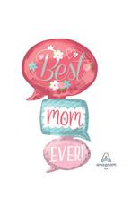 Amscan folieballon multishape XL best mom ever