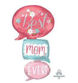 Amscan folieballon multishape XL best mom ever 71x134