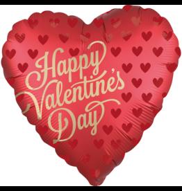 Amscan folieballon happy valentine's day satin red 45 cm