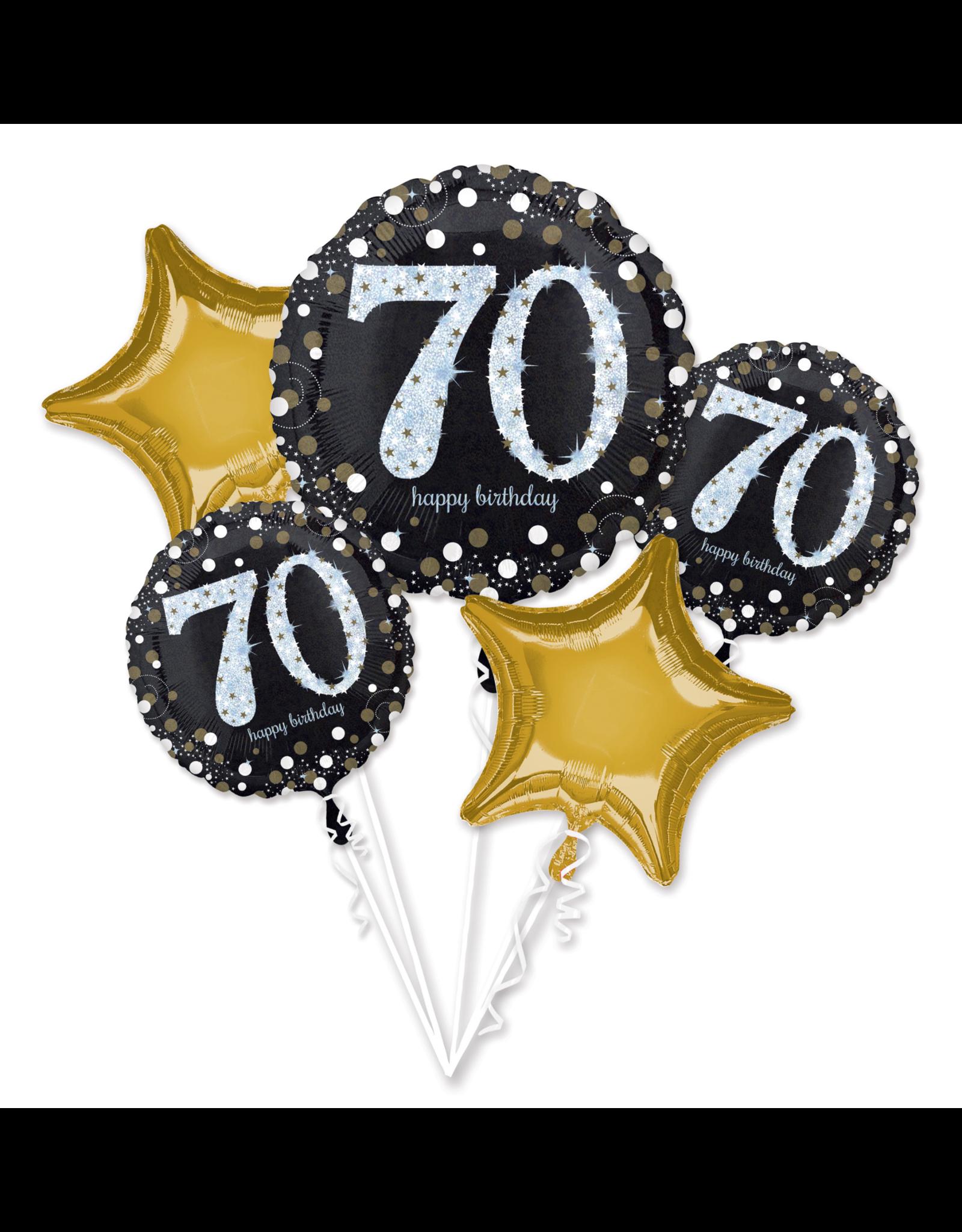 Amscan sparkling folieballonpakket 70 jaar