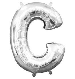 Amscan folieballon zilver letter C 40 cm