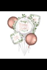 Amscan folieballonpakket Bridal shower love & leaves 5-delig