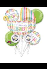 Amscan folieballonpakket Welcome baby 5-delig